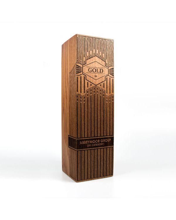 Large real wood column awards