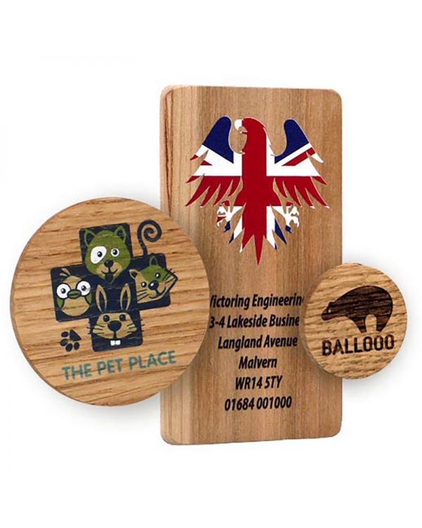 Real Wood Fridge Magnet With Full Colour Print