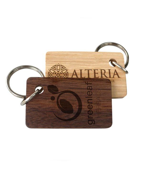 Real wood keyrings