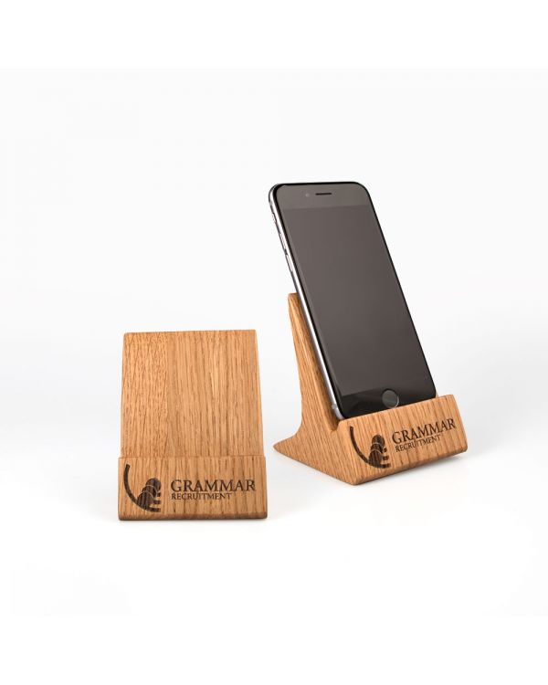Real wood phone stand - upright