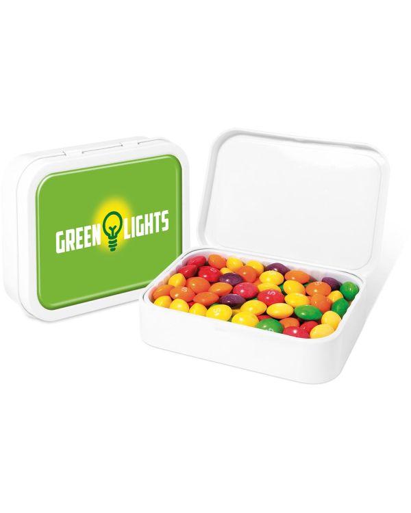 White Sweet Tin - Skittles