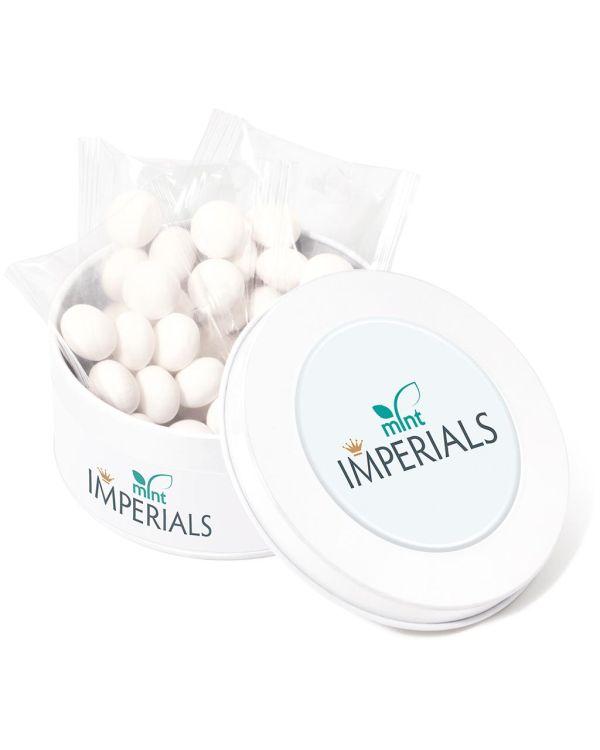 Treat Tin - White - Mint Imperials