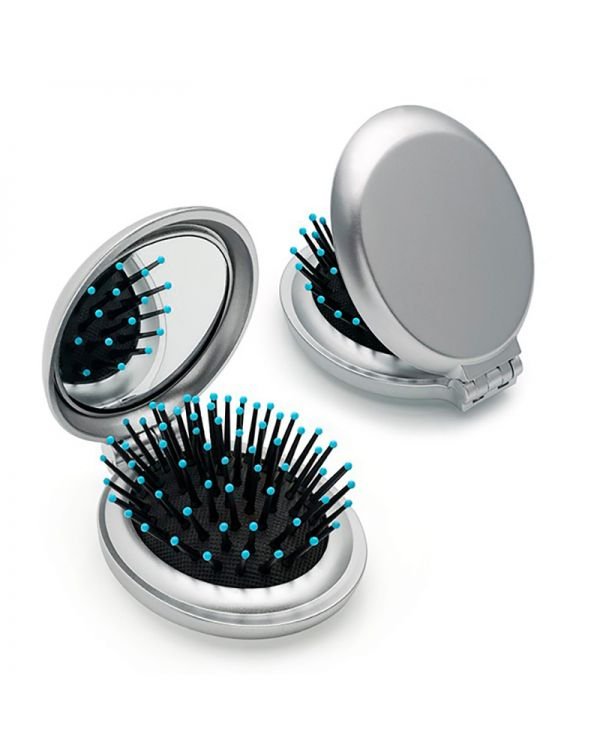 Metallic Folding Brush Mirror
