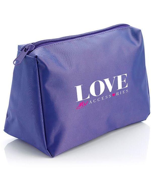 Purple Nylon Travel Bag