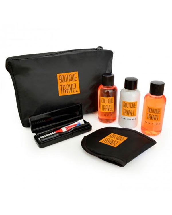 6pc Black Travel Set In A Black Bag