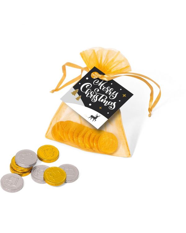 Winter Collection 2020 - Organza Bag - Chocolate Coins
