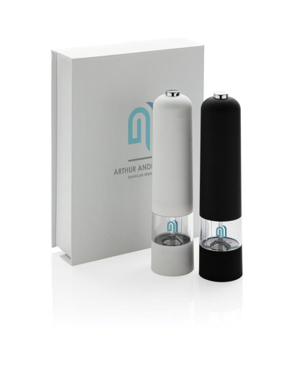 Electric Pepper And Salt Mill Set