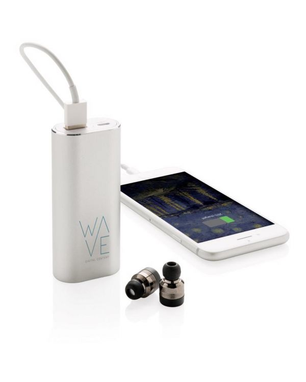 True Wireless Earbuds With 2,000 mAh Powerbank