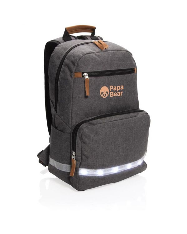 LED Light 13 Inch Laptop Backpack