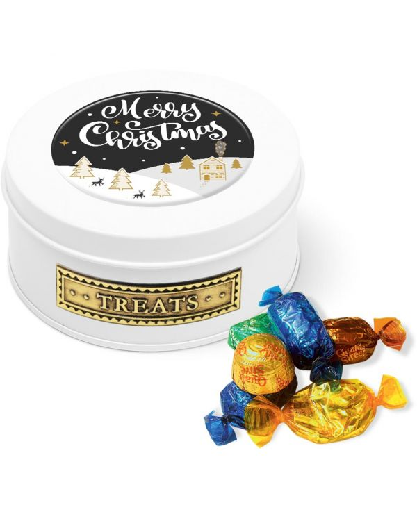 Winter Collection 2020 - Treat Tin - White - Quality Street