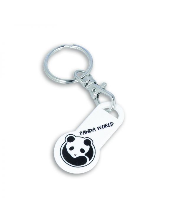 EURO Trolley Stick Coin Keyring